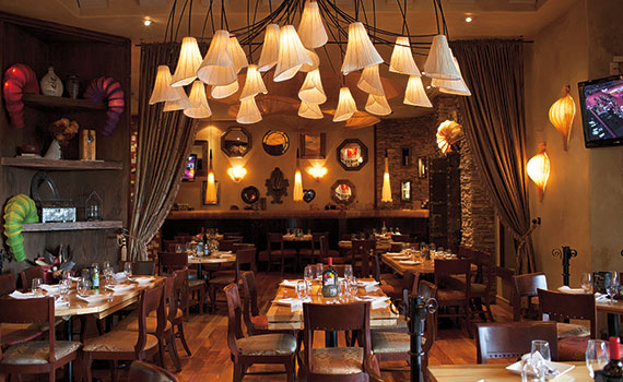 rustic kitchen bistro bar